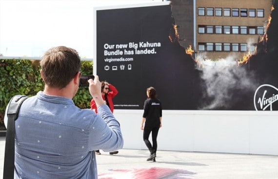guerrilla marketing companies virgin media