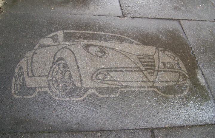 Alfa Romeo Clean Stencil