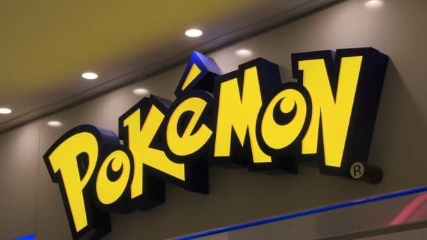 Pokemon logo sign brand activation